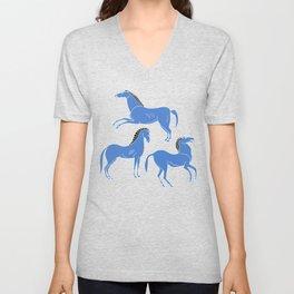 ancient greek pottery horses pattern Unisex V-Neck
