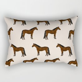 Bay Horse breed farm animal pet pattern horses Rectangular Pillow