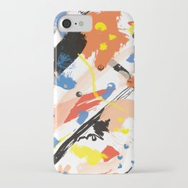 Abstract Floral Splash iPhone Case