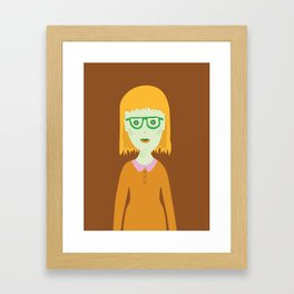 The Girl with the Baby Bangs Framed Art Print