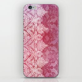 ABERDEEN HEIRLOOM, LACE & DAMASK: REBECCA'S RED iPhone Skin