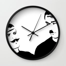Mustache Made Me Do It Wall Clock