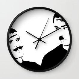Mustache Made Me Do It Wall Clock