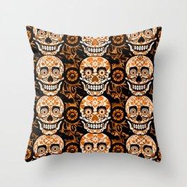 Halloween Calaveras Throw Pillow
