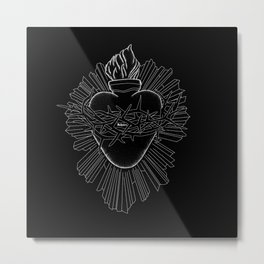 The devotion to the sacred heart. Metal Print