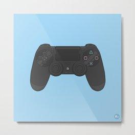 PS4 Controller Metal Print