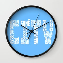 Manchester City 2017-2018 Wall Clock