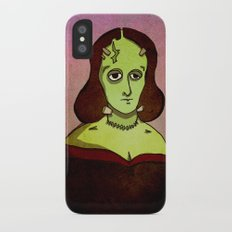 Prophets of Fiction - Mary Shelley /Frankenstein iPhone X Slim Case