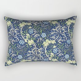 William Morris Blue Daisies Rectangular Pillow