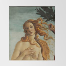 "Sandro Botticelli ""The Birth of Venus"" 2. Throw Blanket"