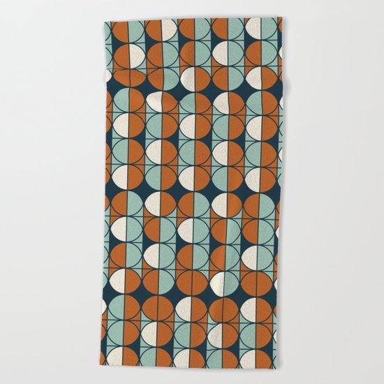 Retro pattern Beach Towel
