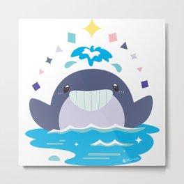 Whale's Joy Metal Print