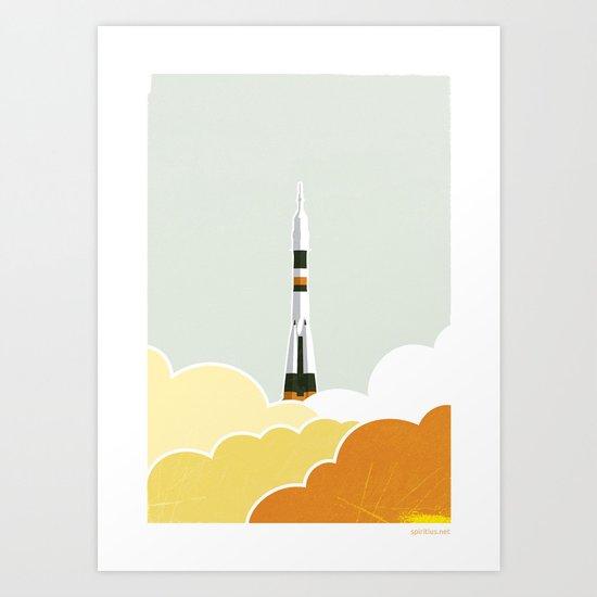 Soyuz Start Art Print
