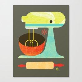 Kitchen Mix & Roll Canvas Print