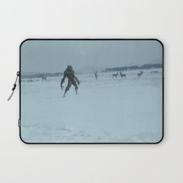 a lonely wolf Laptop Sleeve