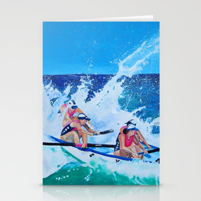 Surf Boat Rowers Stationery Cards