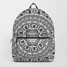 Black Pug Yoga Medallion Backpack