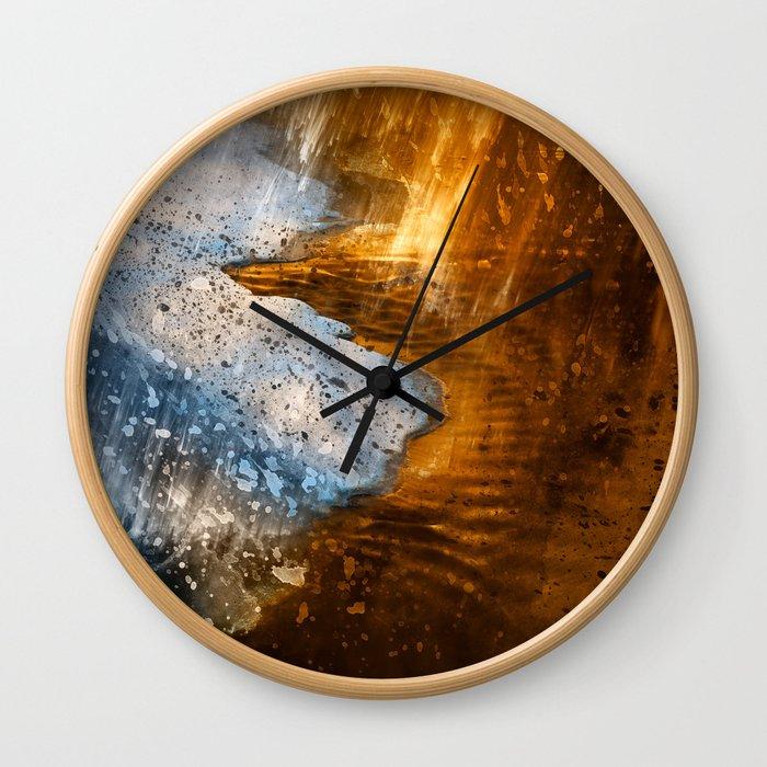 Abstract Acrylic Blizzard Wall Clock