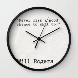 Will Rogers quote Wall Clock