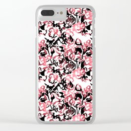Floral Wash Pattern Clear iPhone Case