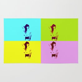 Synth-Pop Art Rug