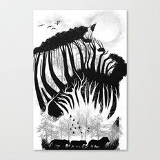 illusion of the wild Canvas Print