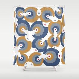 Mano Semilla/Hand Seed--Blue Shower Curtain