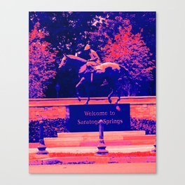 Welcome to Saratoga Springs Canvas Print
