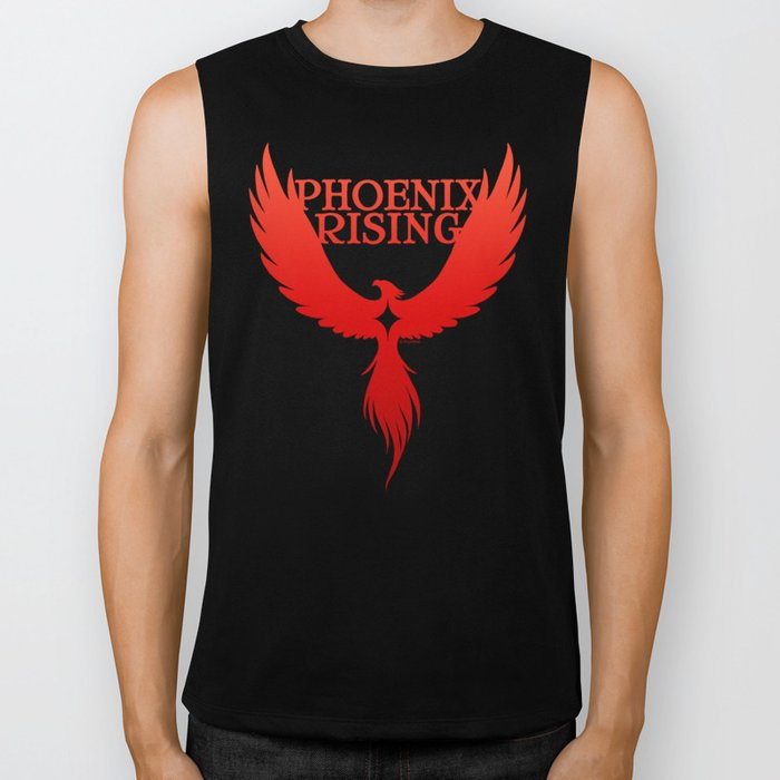 PHOENIX RISING red with star center Biker Tank