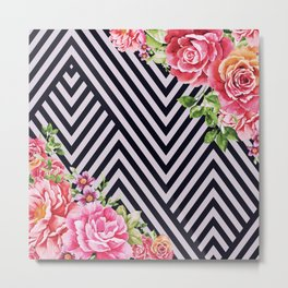 flowers geometric Metal Print