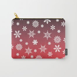 Snow Flurries-Red/Black Ombre Carry-All Pouch
