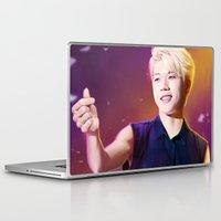 kpop Laptop & iPad Skins featuring Woohyun by Nikittysan