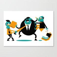Business Brawl - 2 on 1 Canvas Print