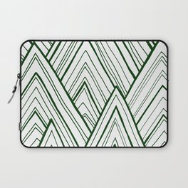 Stripe Mountains - Dark Green Laptop Sleeve