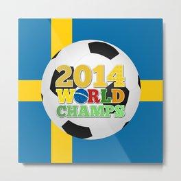 2014 World Champs Ball - Sweden Metal Print