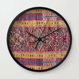 Kolyai Long Antique Persian Kurdish Rug Print Wall Clock