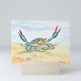 Colorful Blue Crab Mini Art Print