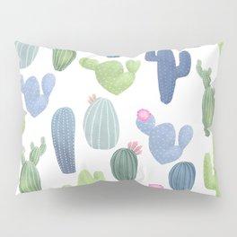 watercolor cacti plants pattern Pillow Sham