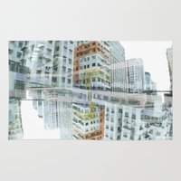 hong kong Area & Throw Rugs featuring Hong Kong Apartments by Eugene Lee