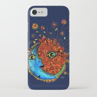 sun and moon iPhone & iPod Cases featuring Sun-Moon by Aubree Eisenwinter