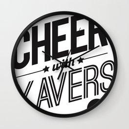 XV Cheerleading Wall Clock