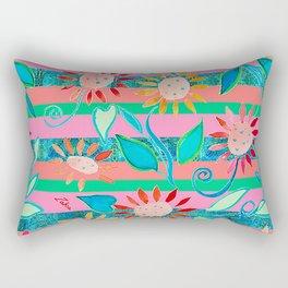 zakiaz flower stripe Rectangular Pillow
