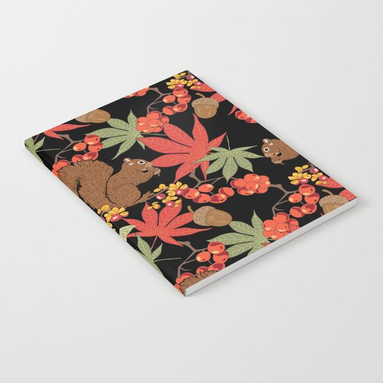 Autumn squirrel Notebook