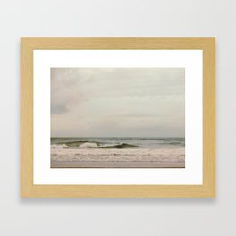Cloudy Daydreaming by the Sea Framed Art Print