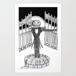 King of the Pumpkin Patch Art Print