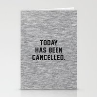 xbox Stationery Cards featuring Today has been Cancelled by Text Guy