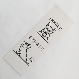 Inhale Exhale Frenchie Yoga Mat