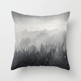 veiled land Throw Pillow