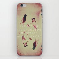 wasted rita iPhone & iPod Skins featuring Wasted  by The Visual Poet