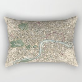 Vintage London Map - 1853 Rectangular Pillow